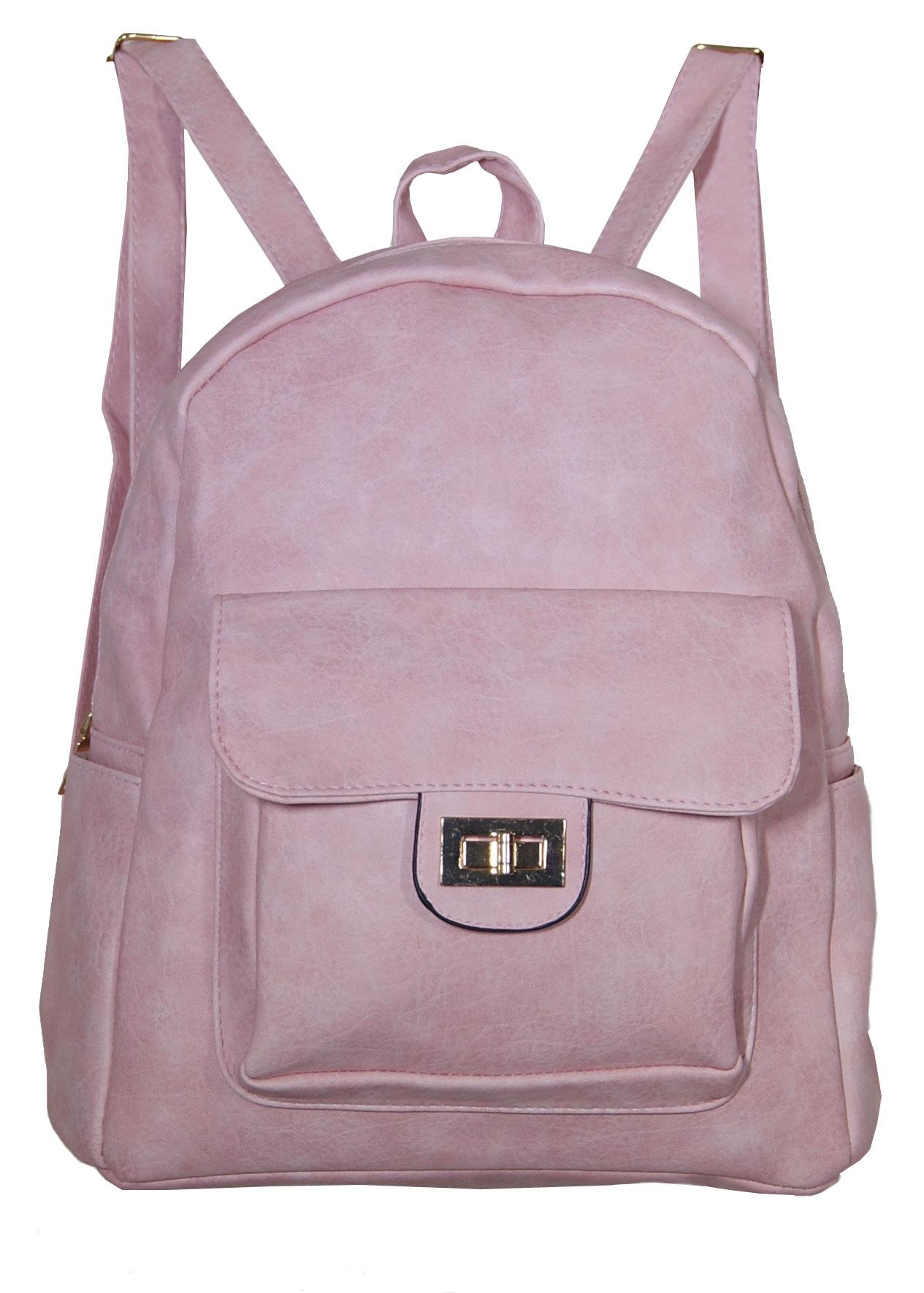 Backpack No 8590 - Ροζ (Silvio κωδ.: 8590)
