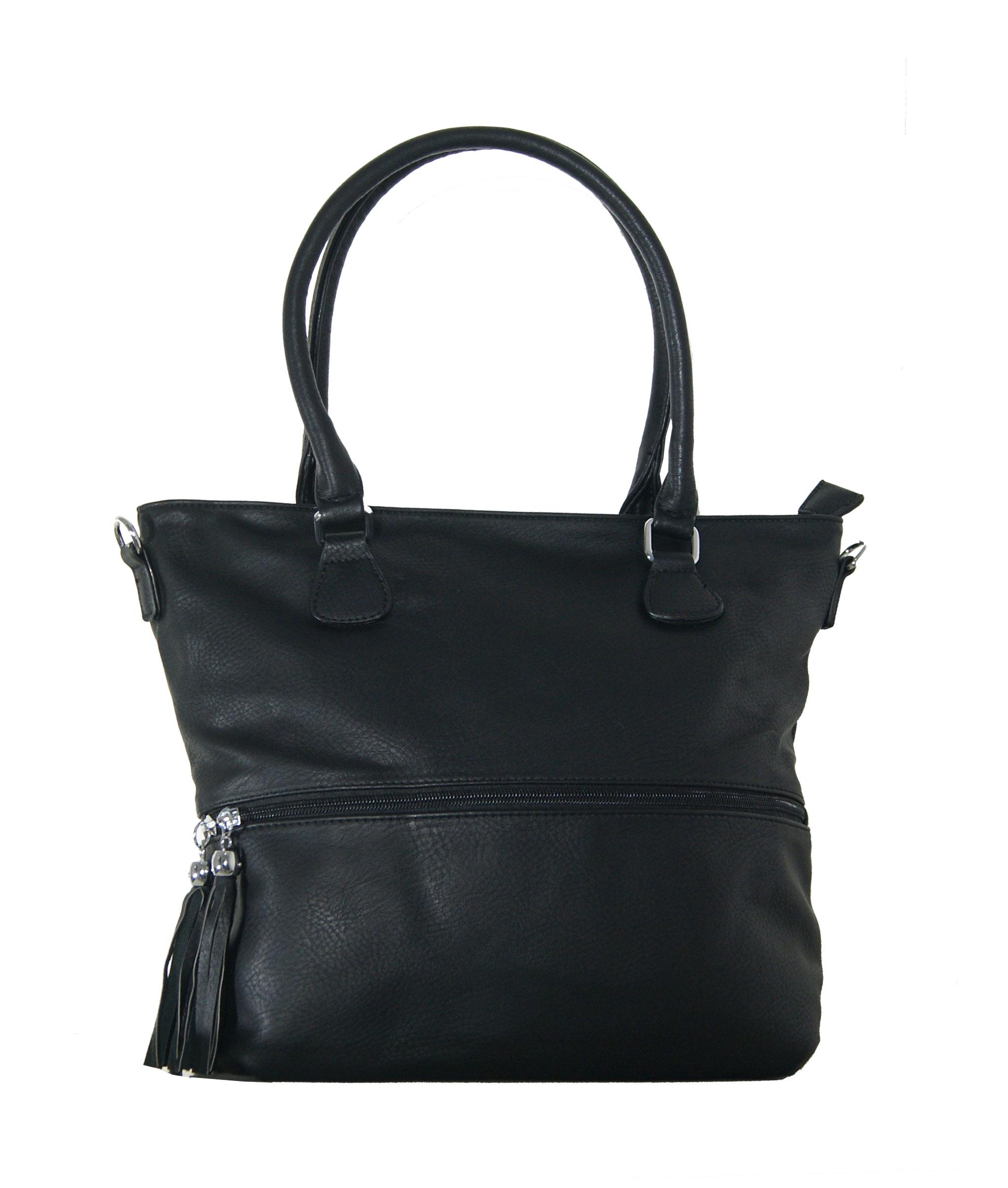 4069773726 Τσάντα χειρός και ώμου Νο 10 - Μαύρη (BN κωδ.  17140)