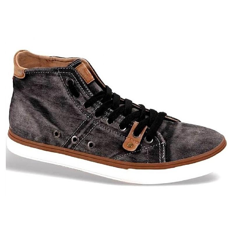 Sneakers ανδρικά πάνινα Νο 7038 - Μαύρο