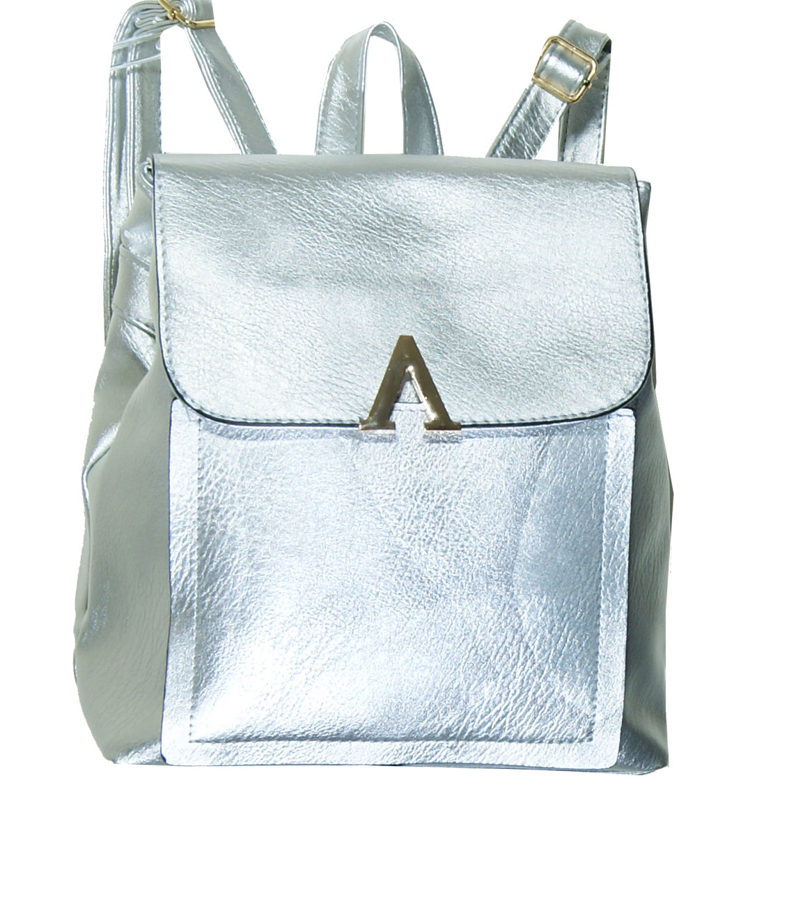 Backpack No 489 - Ασημί (Silvio 489)