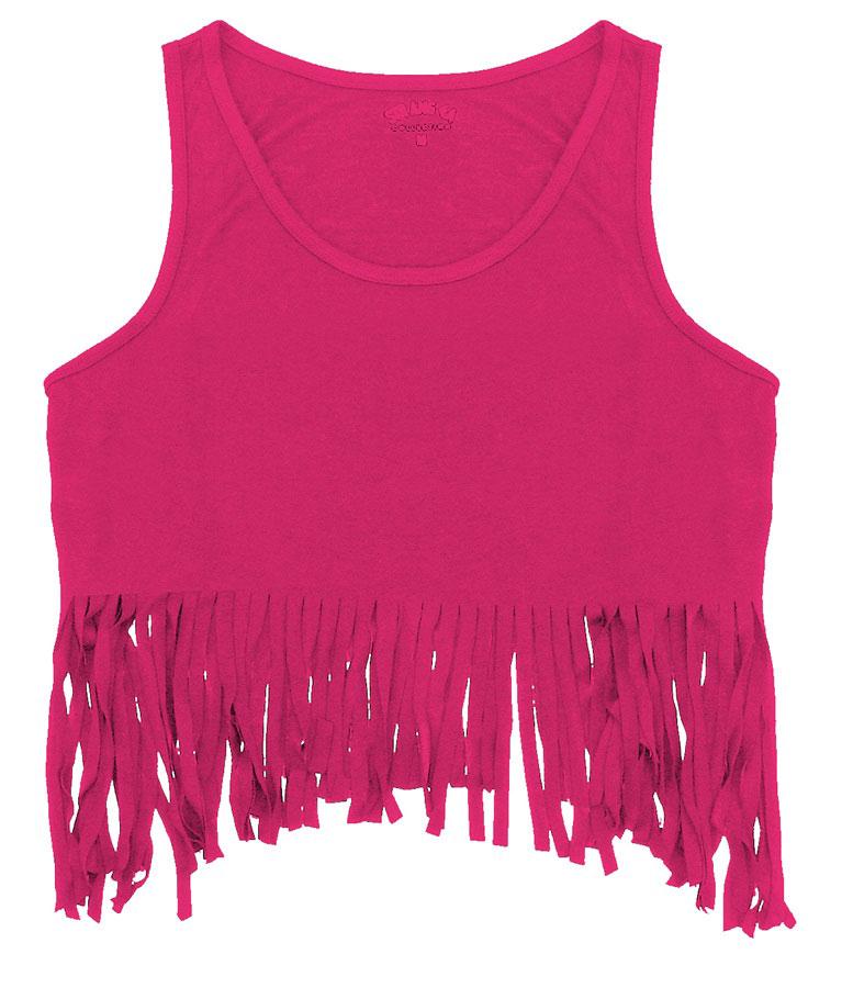 T-shirt γυναικείο με κρόσσια - Νο 48 Φούξια (Noche 100-0048 Strangel)