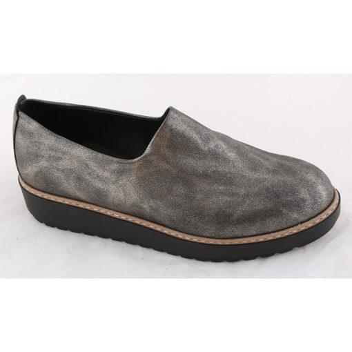 Παπούτσια φλατ γυναικεία Νο 4631 - Ατσαλί