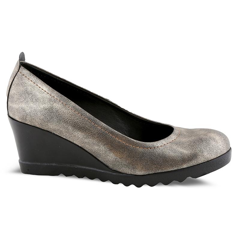 Παπούτσια-πλατφόρμες Νο 7301 - Ατσαλί