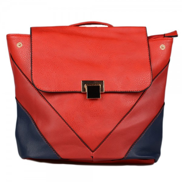 Backpack τρίχρωμο ΗΧ1010 - Κόκκινο