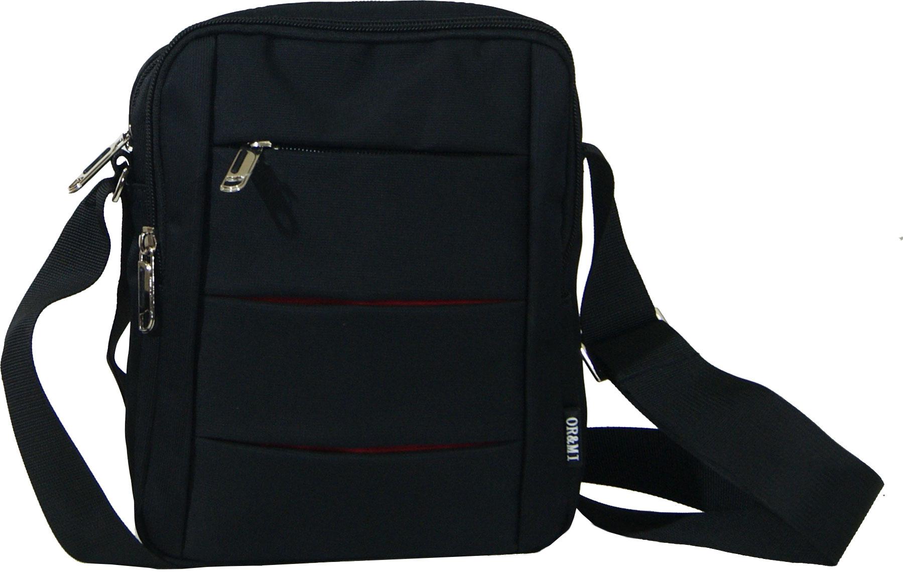 Τσάντα ανδρική Νο 88100 - Μαύρη (OR and MI 88100)
