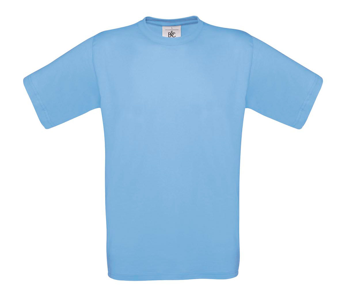 T-shirt ανδρικό B and C No 2 - Γαλάζιο (TU002)