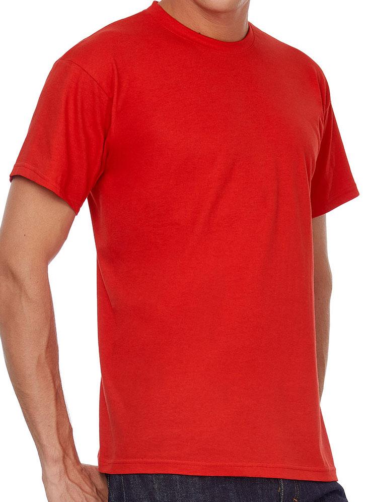 T-shirt ανδρικό B and C No 2 - Kόκκινο (TU002)