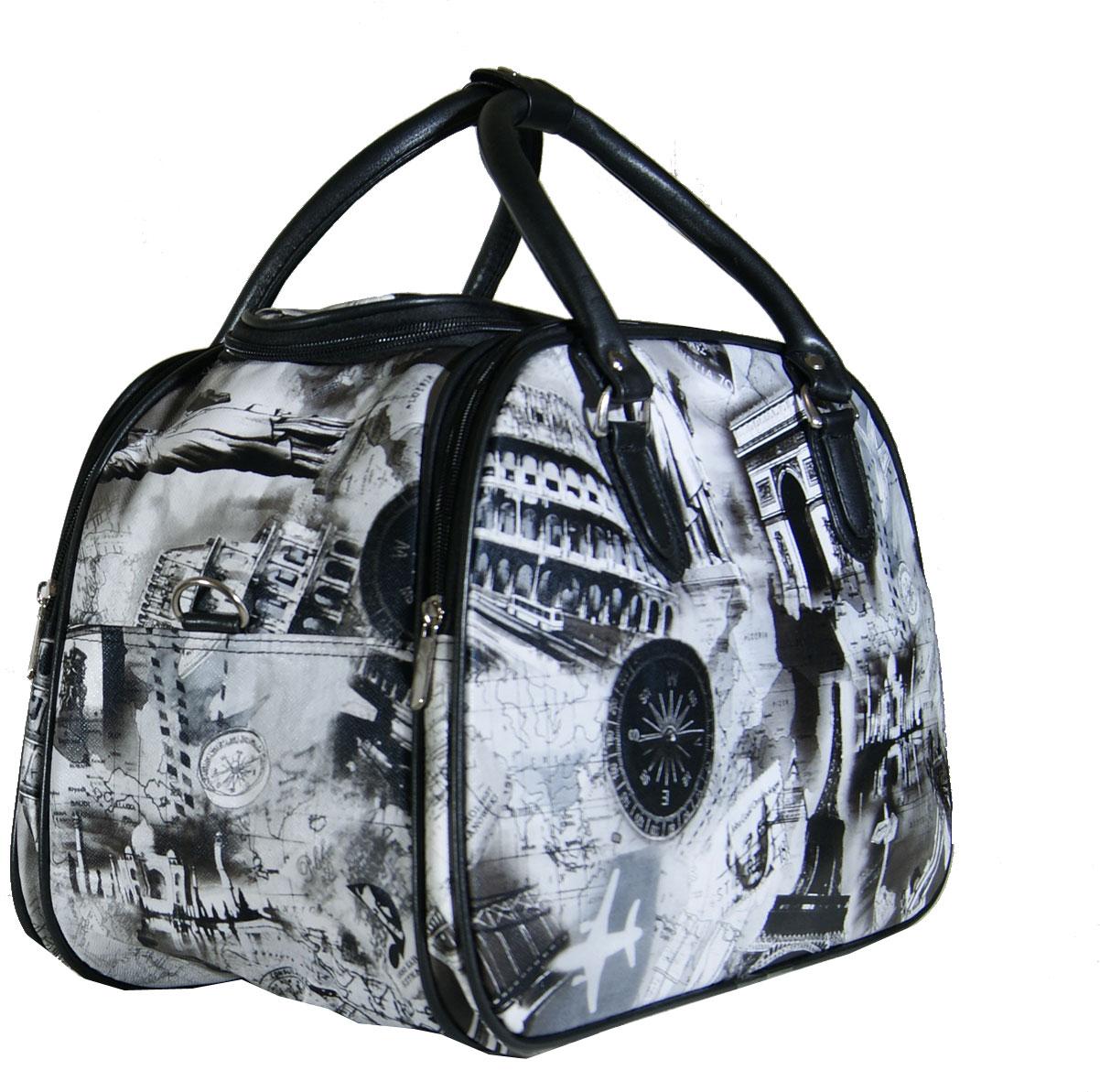 7e6a1d453f Τσάντα χειρός και ώμου γυναικεία Νο Ζ012 - Μαυρόασπρη PARIS (PARIS012
