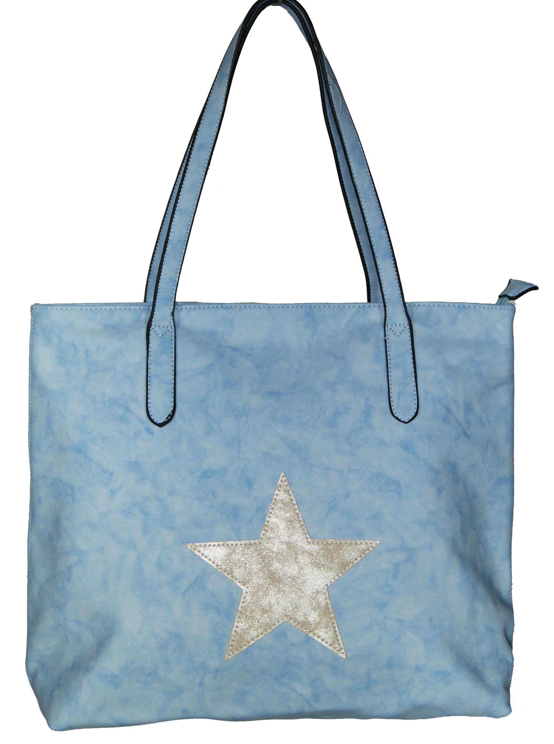 Τσάντα ώμου Νο 124 - Γαλάζια (SARA MODA κωδ.: 891)