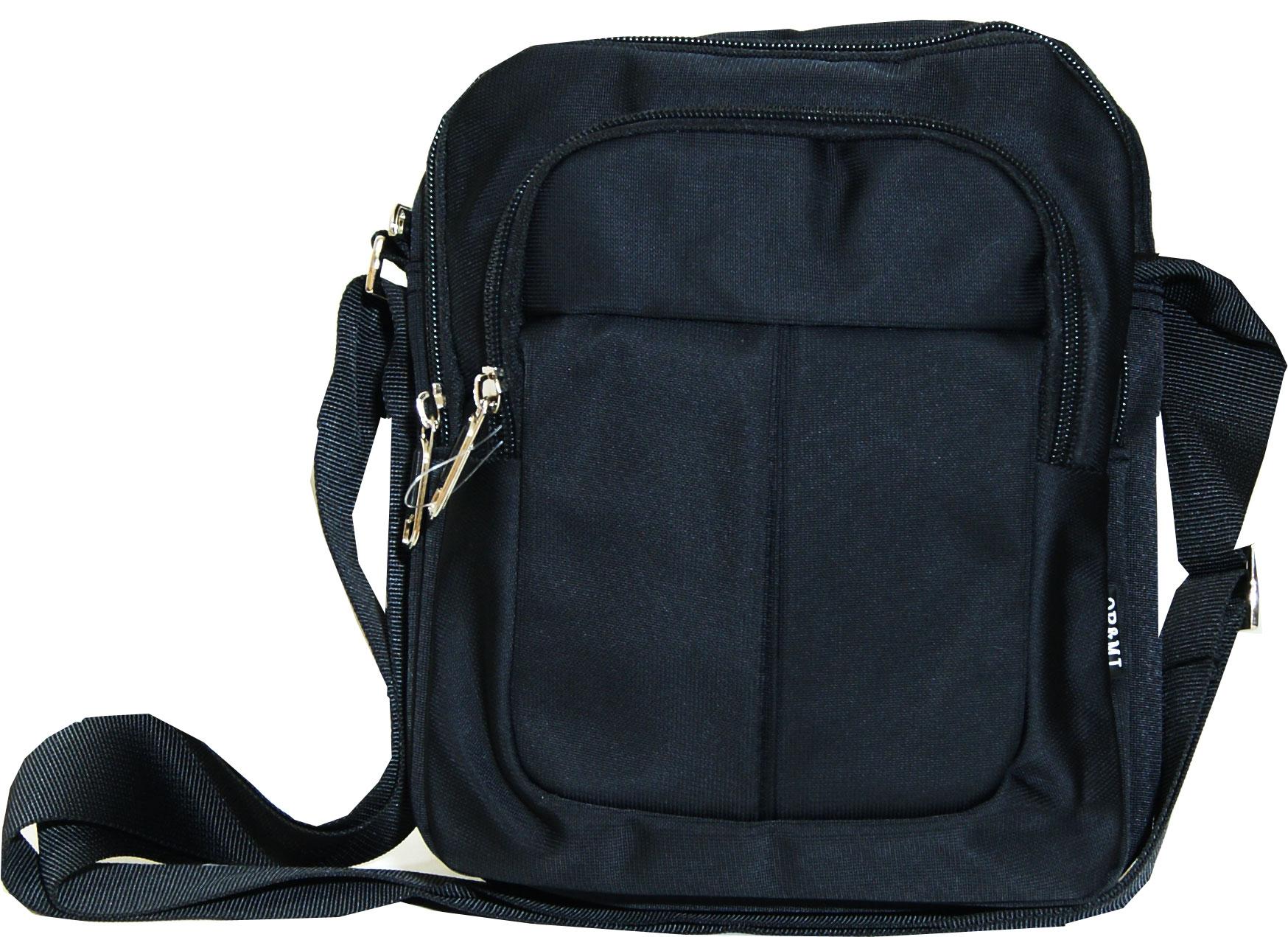 Τσάντα ανδρική ώμου Νο 1513 - Μαύρη (OR and MI)