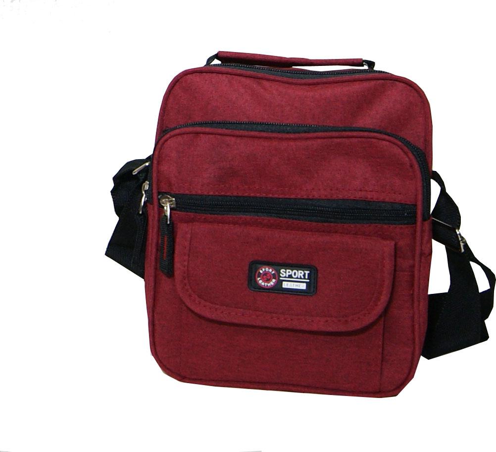Τσάντα χειρός και ώμου ανδρική Νο 5525 - Μπορντό βυσσινί