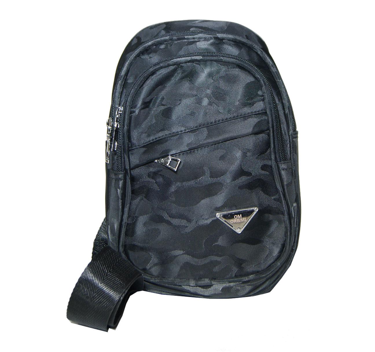 Τσάντα ανδρική ώμου ή χιαστί Νο 7880 - Μαύρη παραλλαγή (OR and MI κωδ.: 7880)