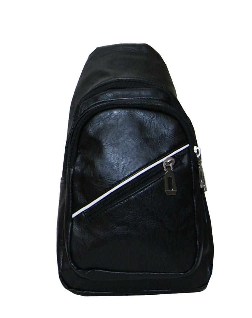 Τσάντα χιαστί ανδρική Νο 8019 - Μαύρη