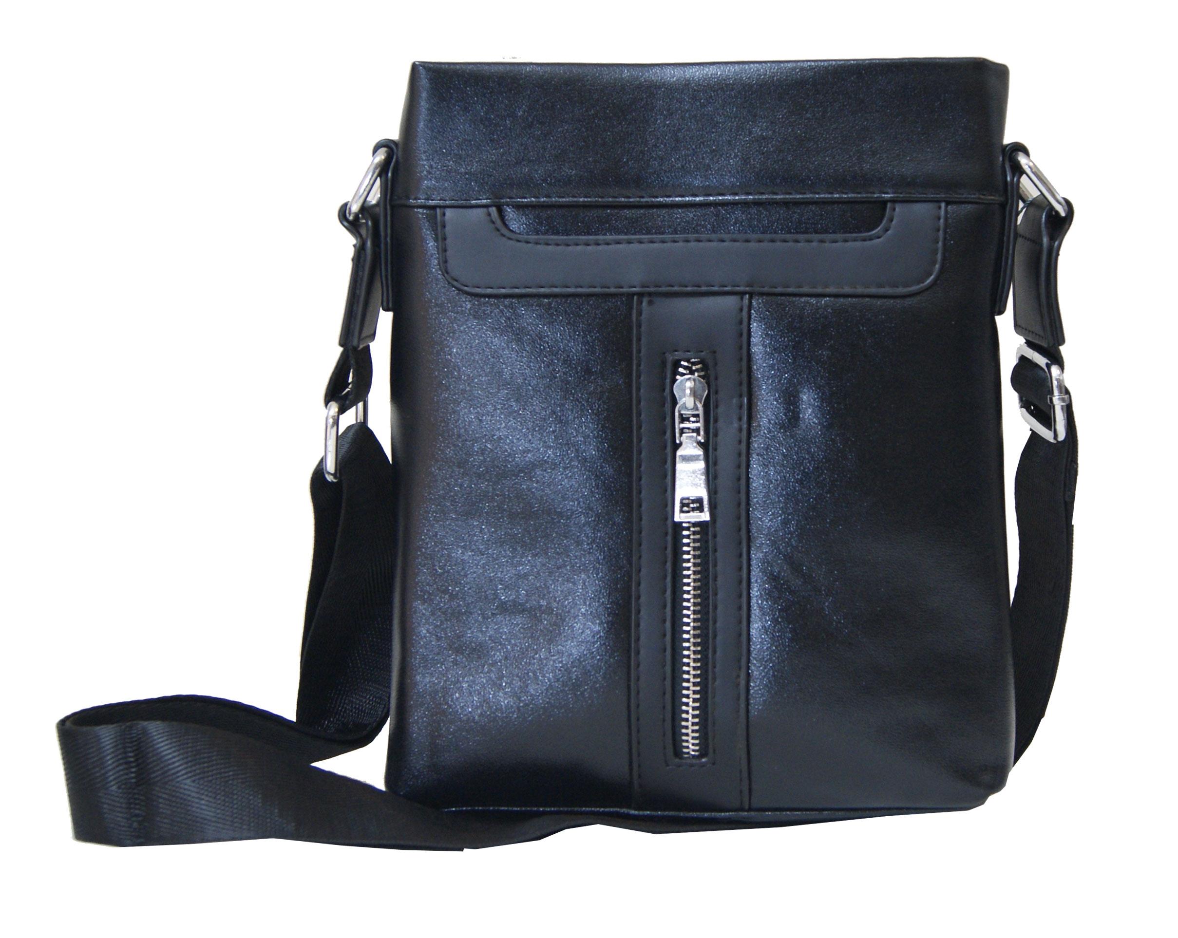 Τσάντα ώμου ανδρική Νο 8813 - Μαύρη
