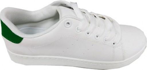 wSN05001618GN wSN05001618GN · Sneakers γυναικεία Νο 1618 - Λευκά με πράσινη  λεπτομέρεια a824d01a726