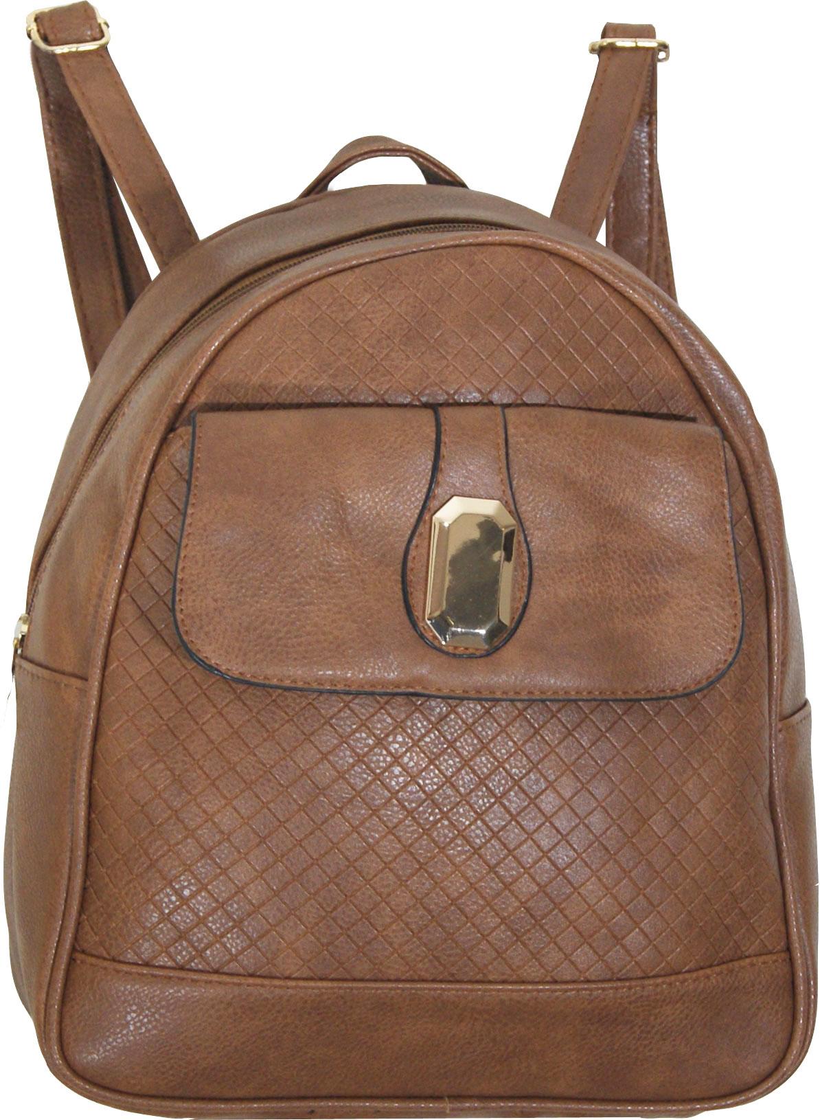 Backpack No 3005 - Ταμπά σκούρο (Silvio 3005)