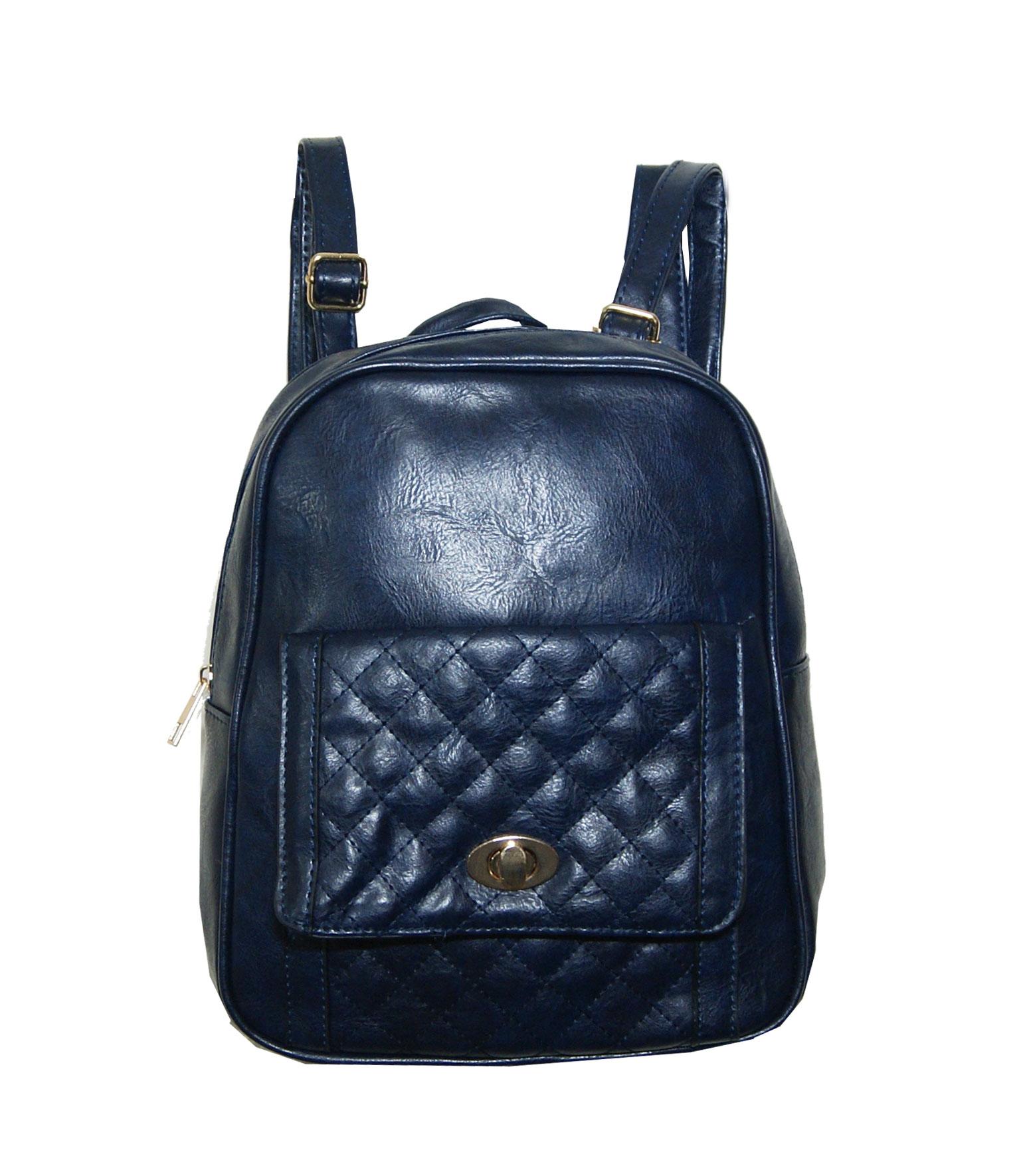 Backpack No 333 - Navy Μπλε (Silvio 333)