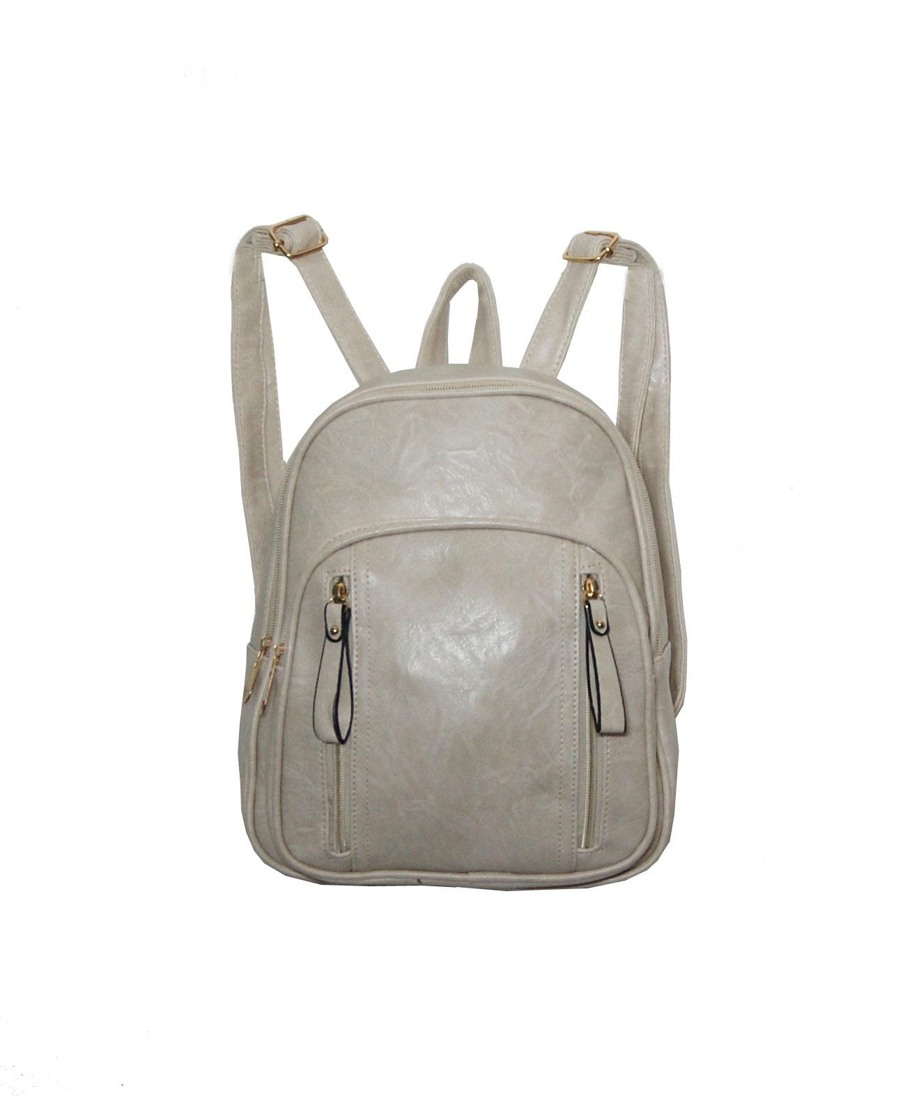 Backpack No 836 - Μπεζ (Silvio 836)