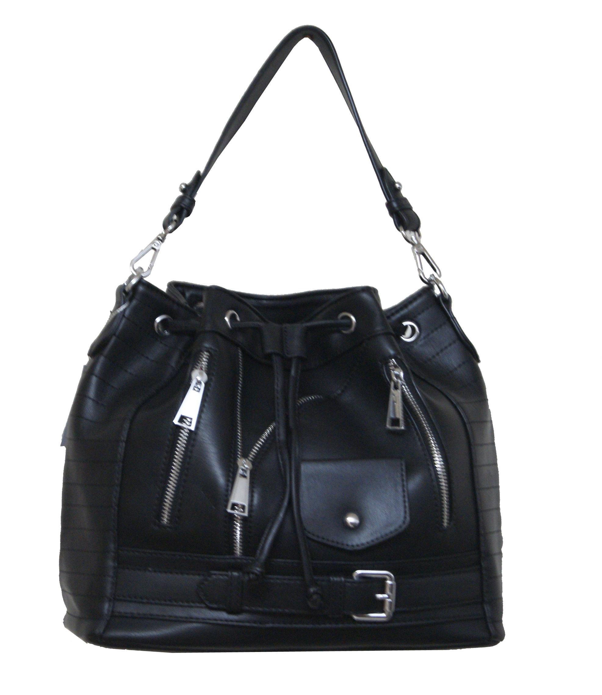 Τσάντα χειρός και ώμου Νο 10015 - Μαύρη