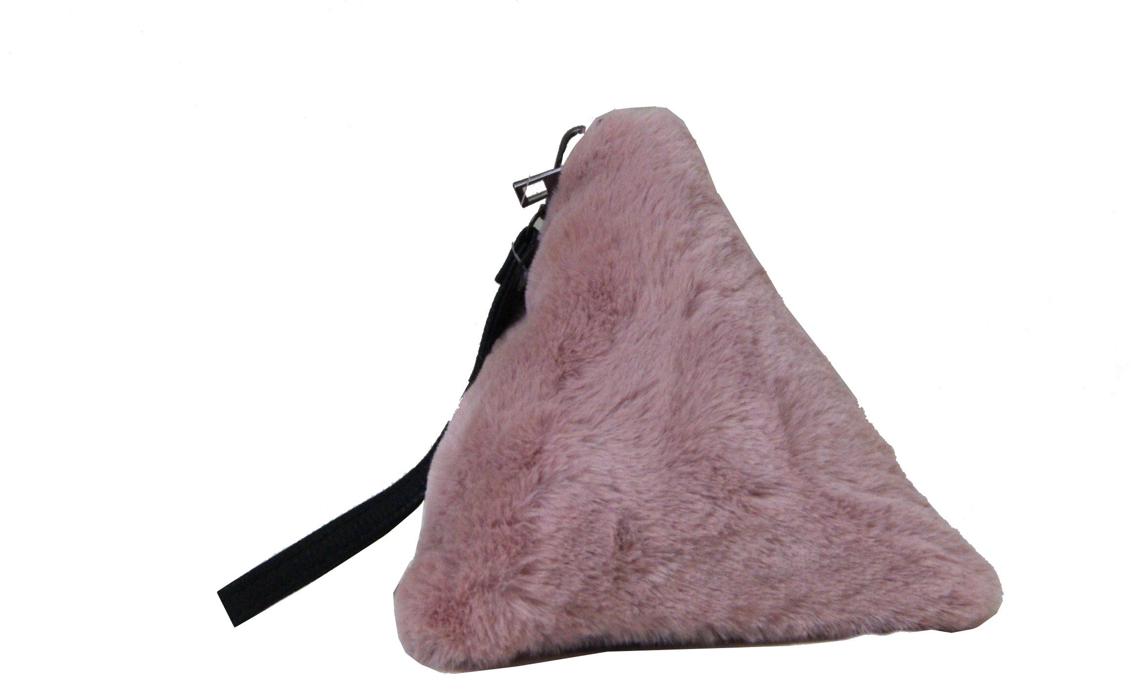 Τσαντάκι καρπού γούνινο Νο 65035 - Dusty Pink