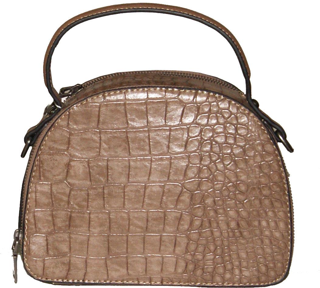 Τσάντα χειρός και χιαστί Νο 8027 - Σοκολά